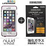 【日本正規代理店品・iPhone本体保証付】【LifeProof 】×【XSHELTER】nuud for iPhone6 Pink + 強化ガラス液晶保護フィルム for LIFEPROOF nuud 専用モデル 4580395289793