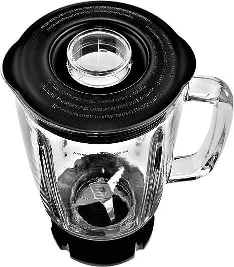 WMF Kult X Batidora mizcladora, 800 W, 1.5 litros, Vidrio, Cromargan mate, negro: Amazon.es: Hogar