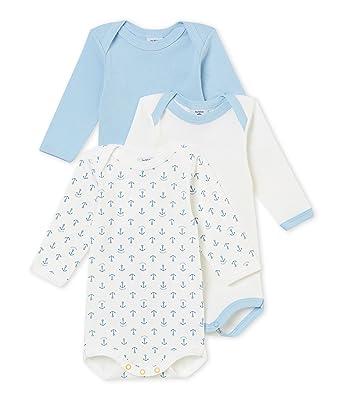 0088f21d5 Petit Bateau Body (Lot de 3 Bébé garçon: Amazon.fr: Vêtements et accessoires
