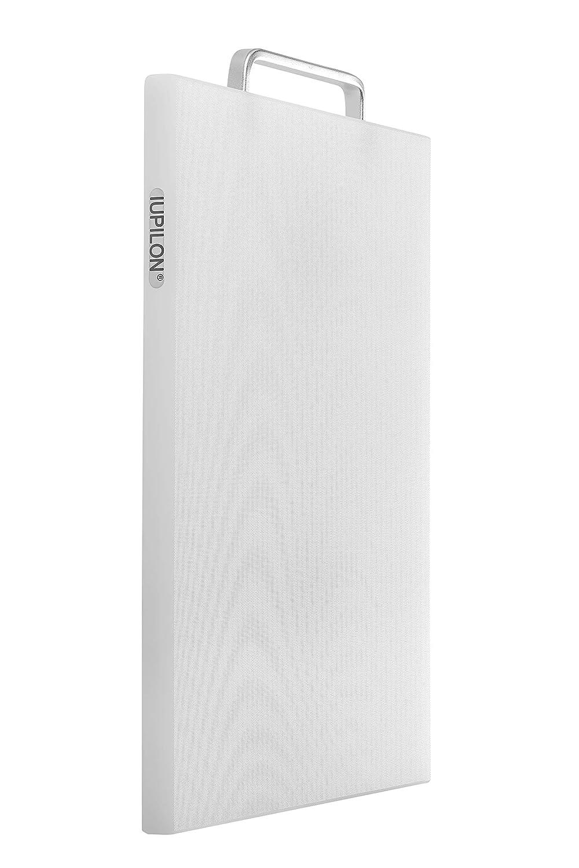Iupilon Nonslip Thick Plastic Cutting Board with Handles Yellow Antibacterial 7.87 x 11.81 Chopping Block