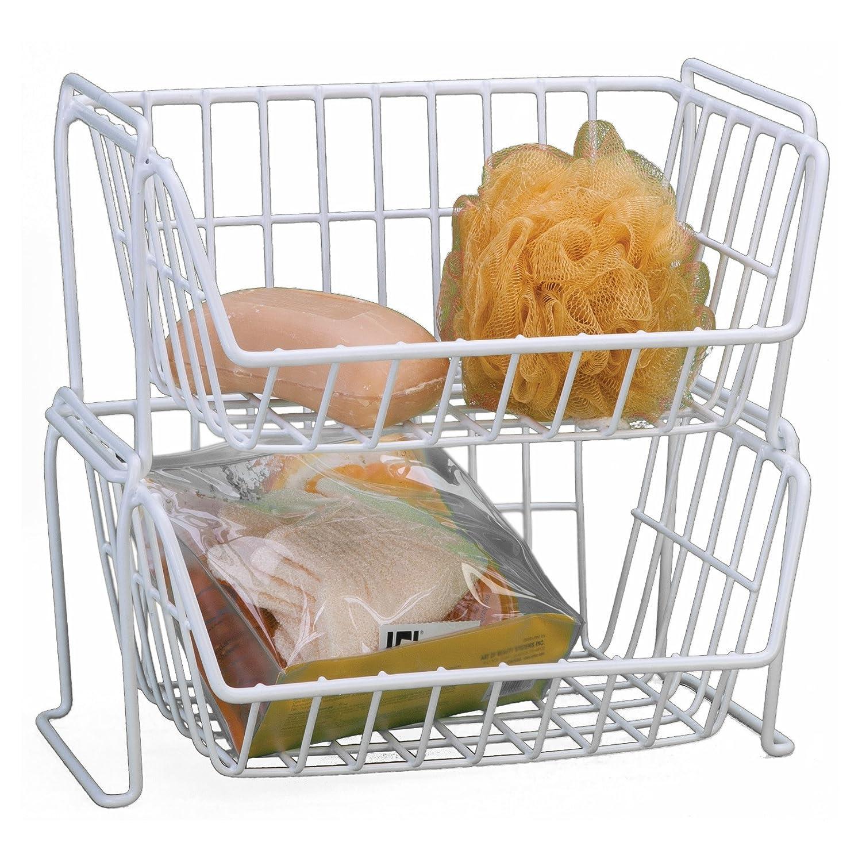 Amazon Grayline Stack Basket White Home & Kitchen