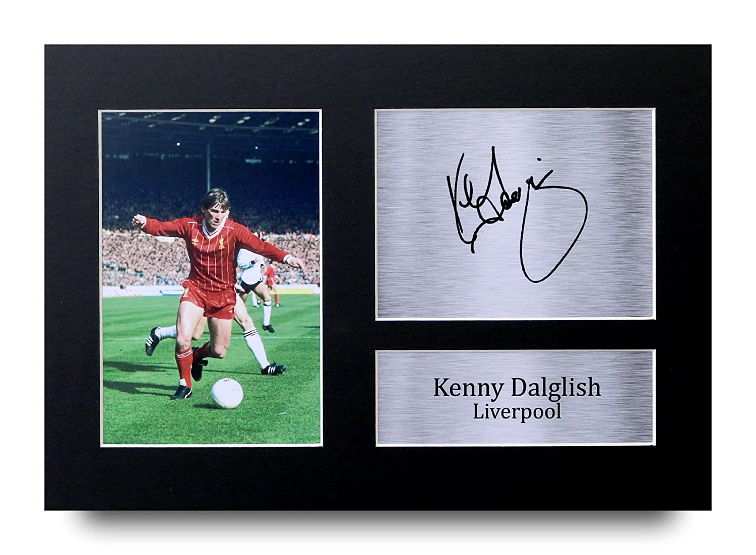 HWC Trading Kenny Dalglish Gift Signed A4 Printed Autograph Liverpool Gifts Photo Display