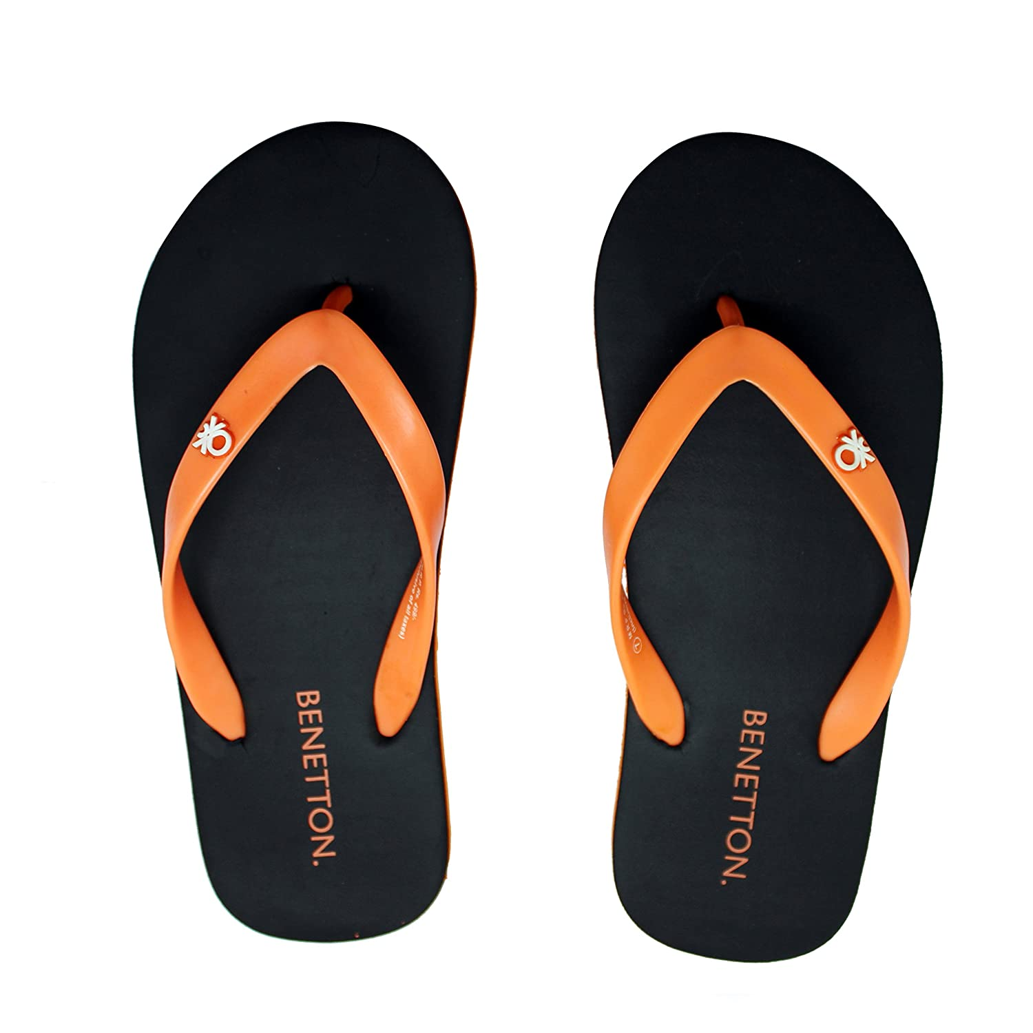 bb58f6d1e0278b United Colors Benetton Black Orange Flipflops for Men 42 EU  Buy Online at  Low Prices in India - Amazon.in