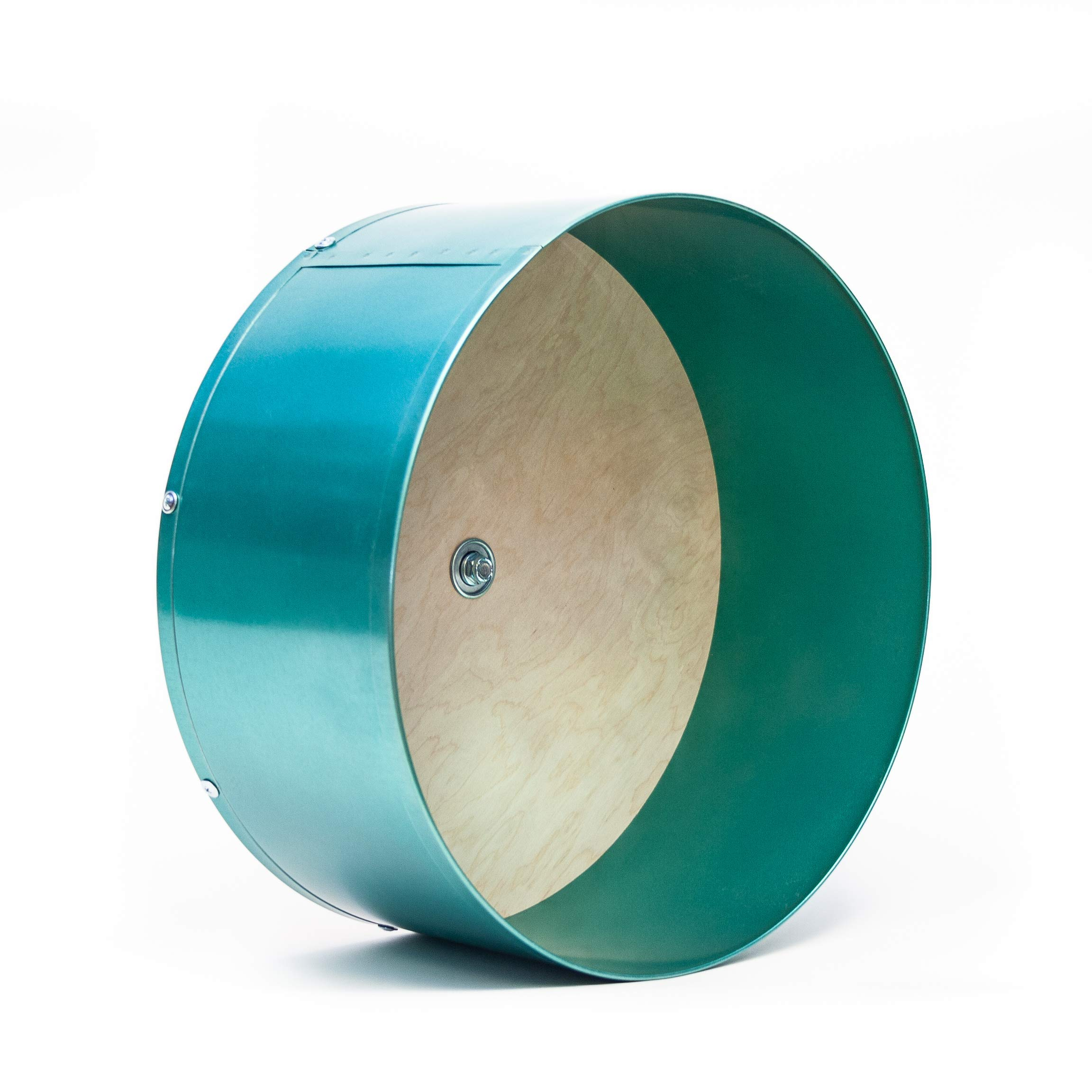 Quality Cage Crafters Colored 15'' Chin Spin Chinchilla Wheel - Handmade in USA - Quiet (Teal) by Quality Cage Crafters