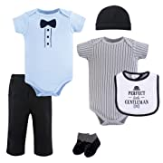 Hudson Baby Baby Multi Clothing Set, Little Gentleman 6 Piece 0-3 Months (3M)