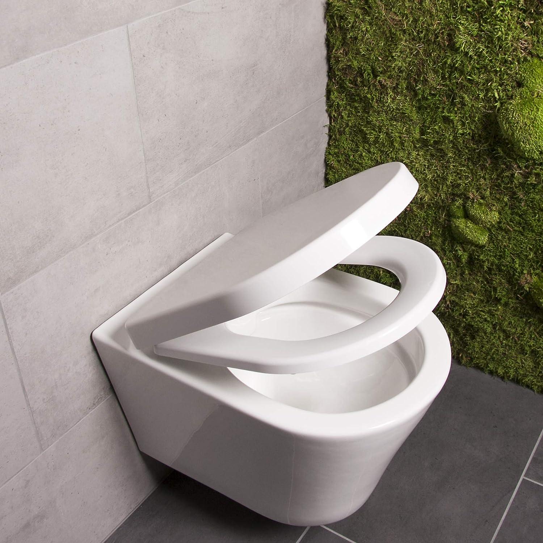 Bullseat 2.1 WC Sitz weiß o-Form mit Absenkautomatik abnehmbar aus Duroplast
