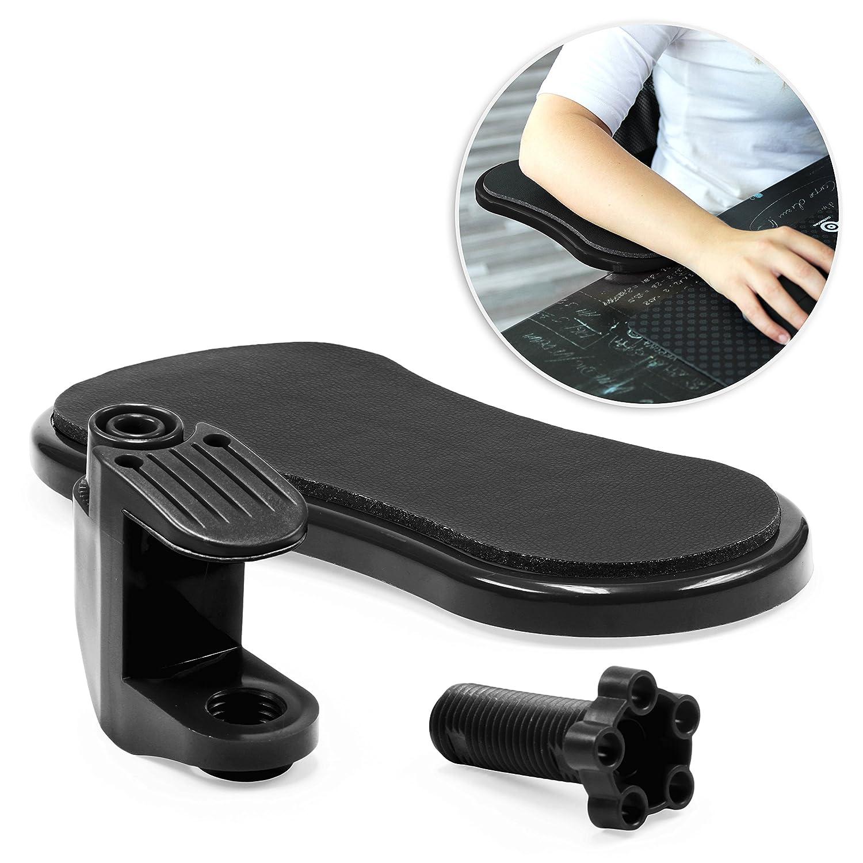 UrCover Supporto Braccio Universale 180 Gradi di rotazione da tavolo, Sostegno regolabile ergonomico flessibile per scrivania, lavoro, computer in Nero