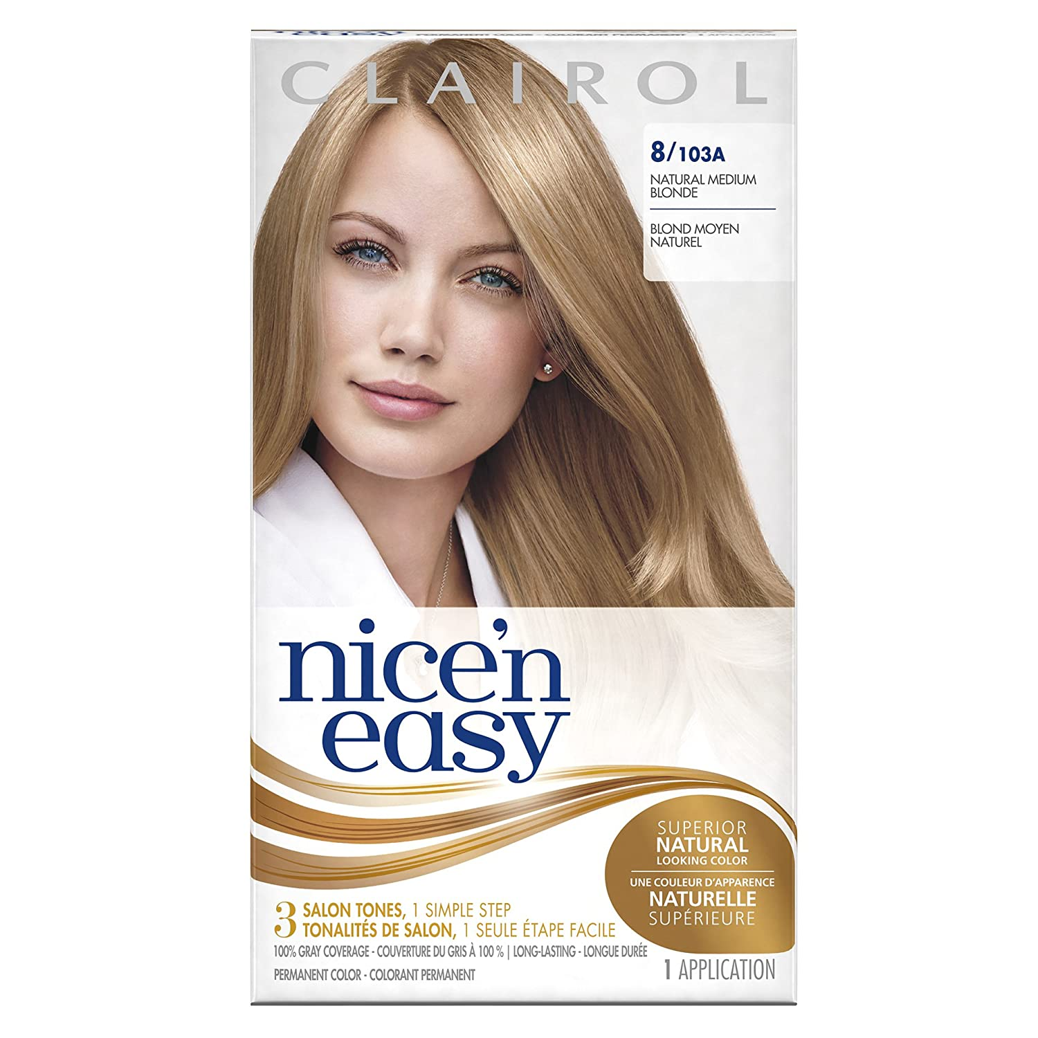 193f5a46d Amazon.com: Clairol Nice 'n Easy, 8/103A Natural Medium Blonde, Permanent  Hair Color, 1 Kit: Prime Pantry