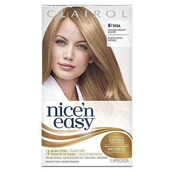 Amazon.com : Clairol Nice \'N Easy Hair Color 103a Natural Medium ...