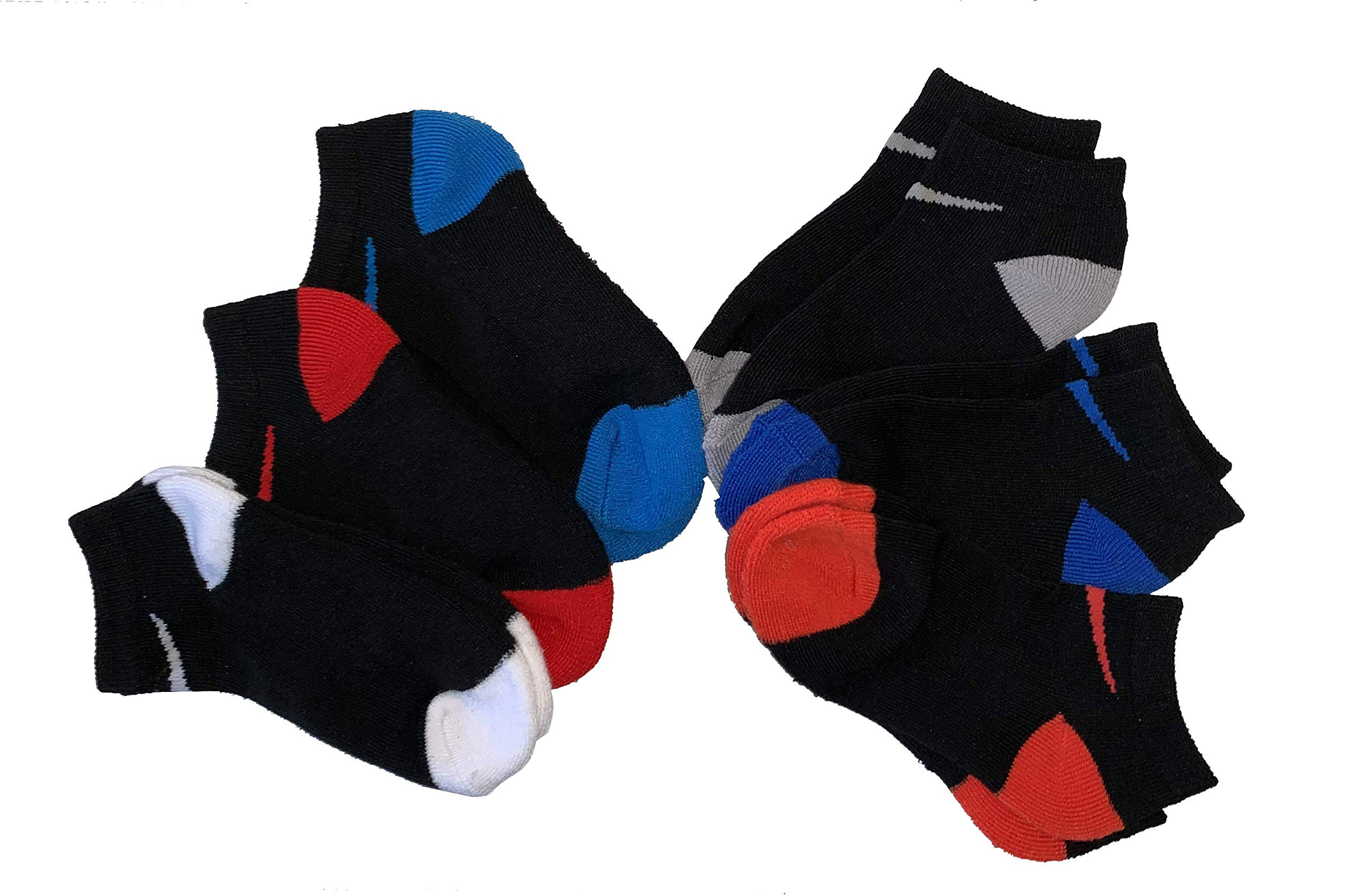 Nike Young Athletes Kids 6-Pair No Show Socks Shoes 10C-13CY/5-7 (Sock Size)