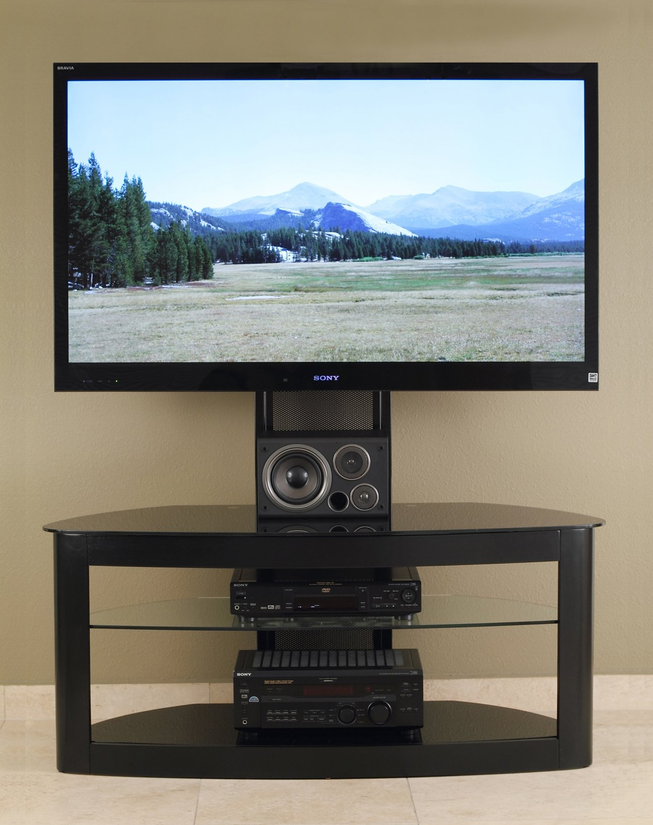 TransDeco LCD TV Stand with Universal Mounting System for 35 to 65-Inch Flat Panel TV by TransDeco (Image #2)
