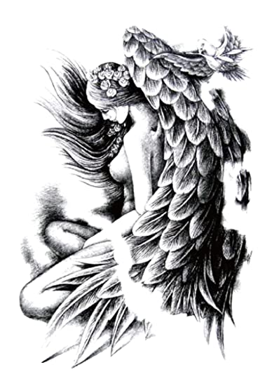 Amazoncom Sexy Women Angel Wing Large 825 Half Sleeve Arm Tattoo