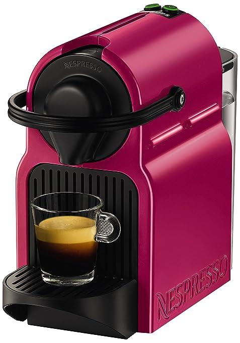 Nespresso Inissia café Máquina de cápsulas por KRUPS - Fucsia (Producto con enchufe de UK