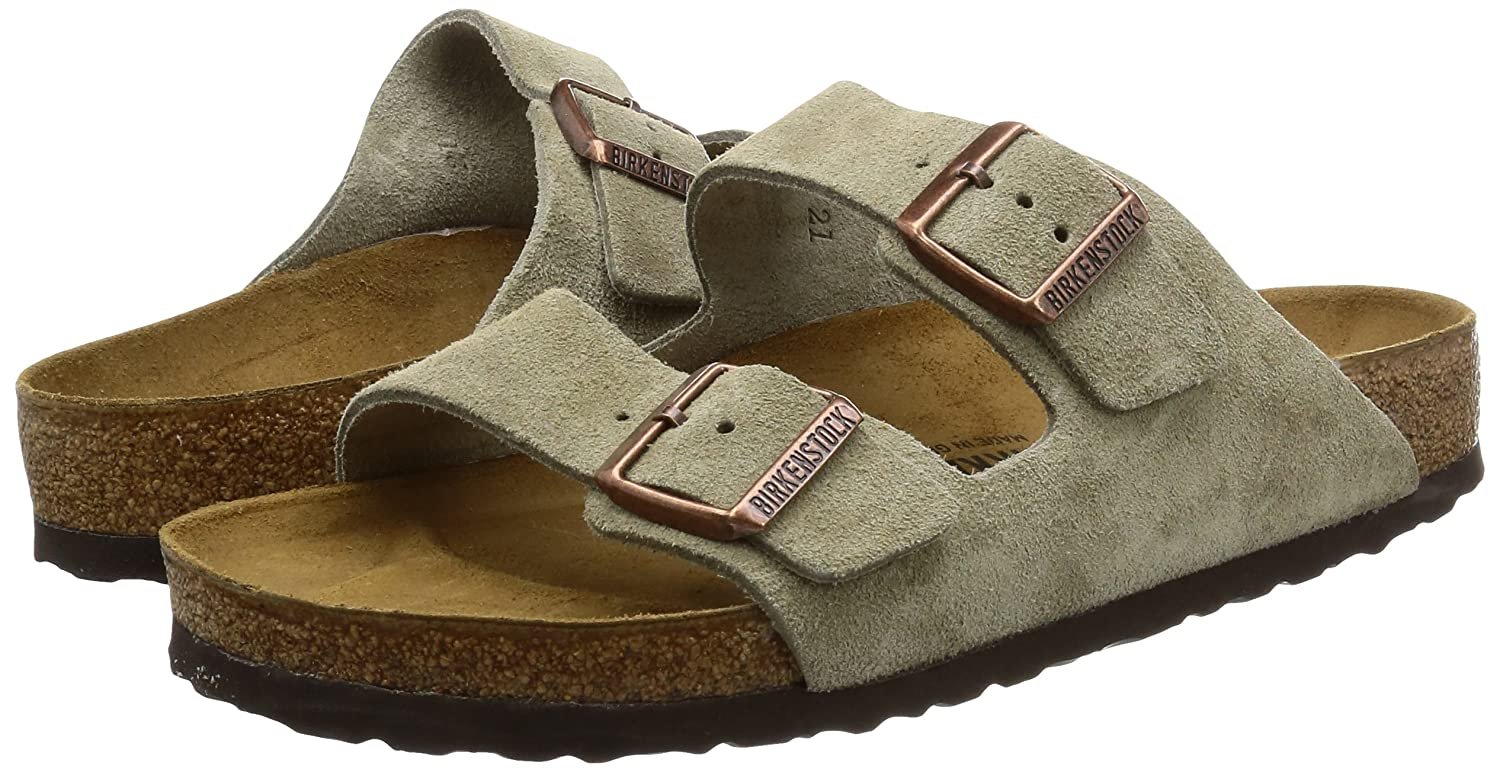 Birkenstock Arizona, Unisex adult|Unisex Adults Casual, Grey (Taupe), 12 UK (47 EU): Amazon.co.uk: Shoes & Bags