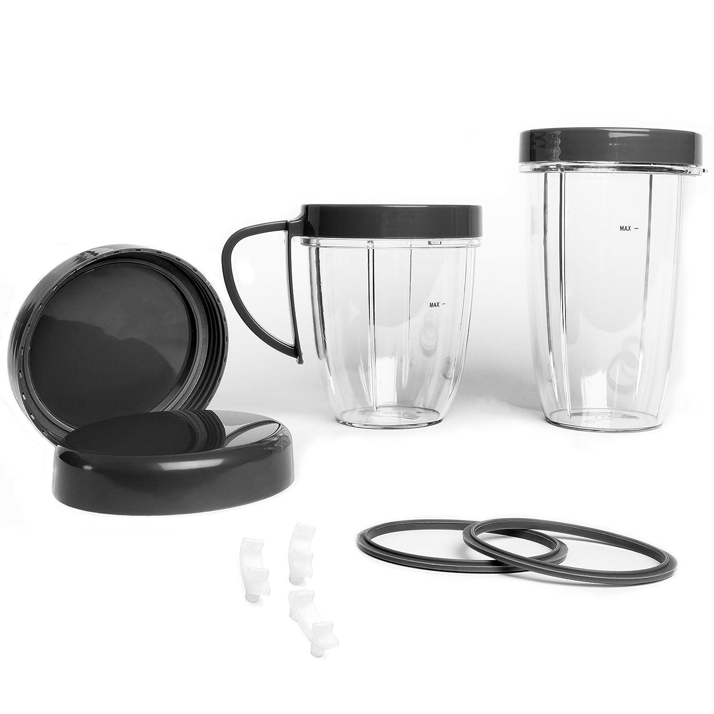 coperchi ad anello Kit di accessori per frullatore NutriBullet set di 11 pezzi di ricambio per NutriBullet versione 600 W//900/W guarnizioni gommini tazza con coperchi richiudibili
