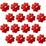Shraddha Creation Small Floating Flower Decorative Smokeless Candle, Red Color with Rose Fragrance (16 Pcs)