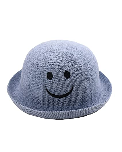 Amazon.com  Ysting Children Kids Vintage Straw Roll Up Brim Bowler Hat  Cloche Cap Dome Sunhat (A)  Clothing 461884f9610