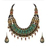 Zephyrr Fashion Junk Handmade Tibetan Multi Strand Choker Necklace Earrings Set