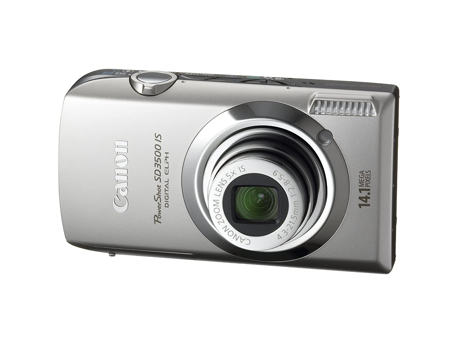 Amazon.com : Canon PowerShot SD3500IS 14.1 MP Digital Camera with 3.5-Inch  Touch Panel LCD and 5x Ultra Wide Angle Optical Image Stabilized Zoom  (Silver) ...