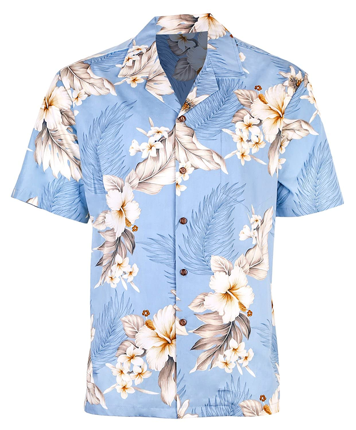 338d11cf KEY FEATURES: All of our Hawaiian shirts feature durable coconut shell  buttons, comfortable short sleeves, and a front pocket patterned to blend  seamlessly ...