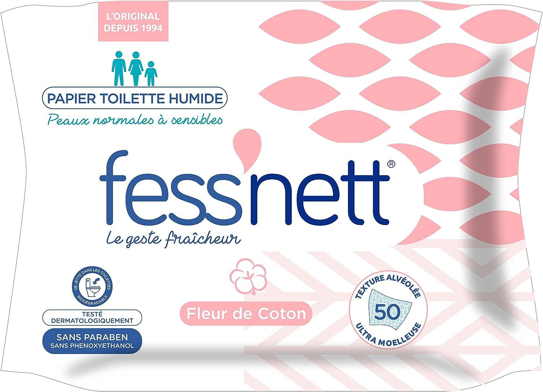 fess Nett papel higiénico húmedo flor de algodón – Juego de 4 ...