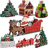 Adventskalender zum befüllen Schlitten DIY ✔ Holz ✔ befüllbar & wiederverwendbar ✔ Holzadventskalender Weihnachtsdeko Holzboxen Deko Weihnachten Kalender