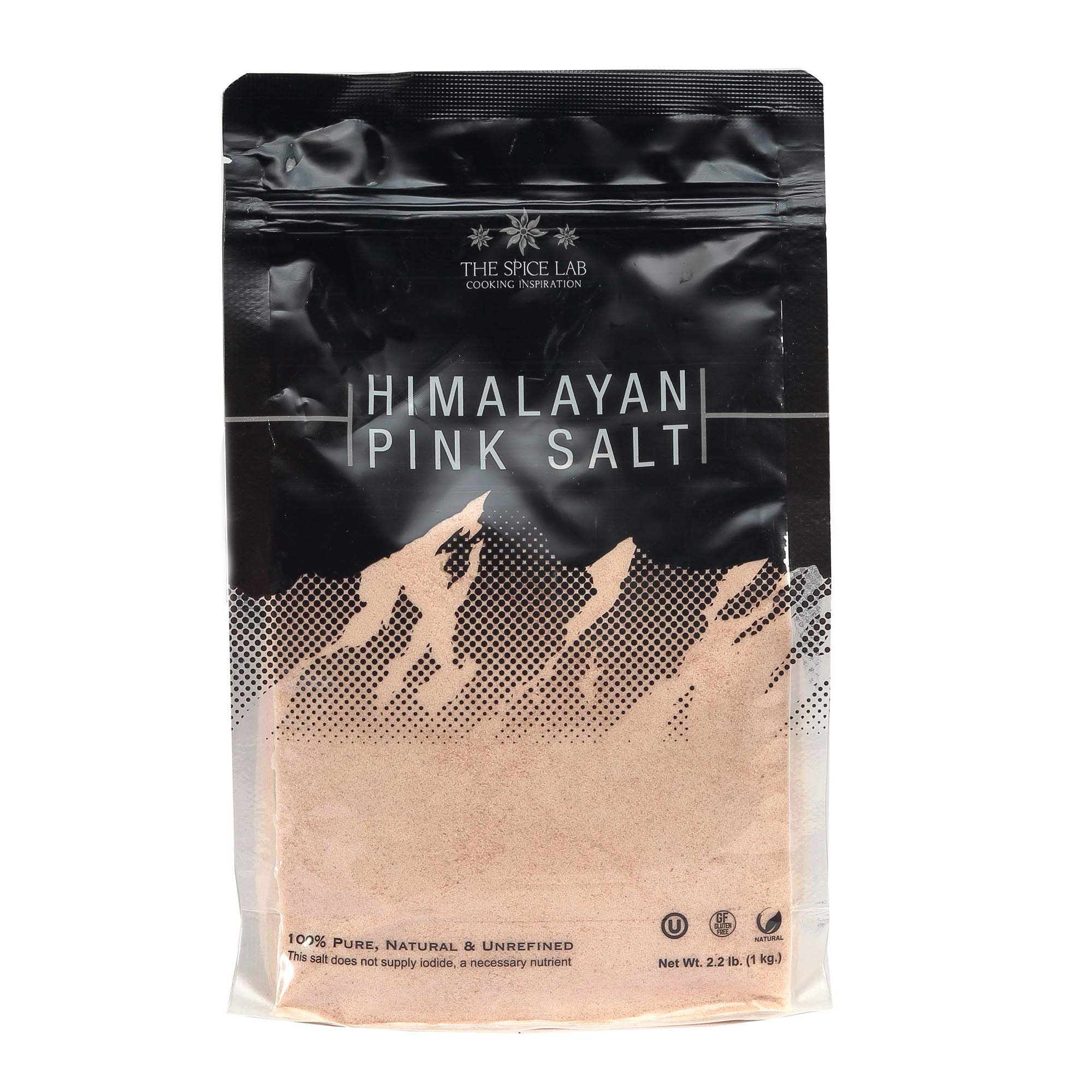 The Spice Lab's Pure Himalayan Salt - Finely Ground .5mm (1 Kilo - Super Fine)