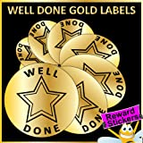 Gold 30mm Diameter x 270 WELL DONE Reward Stickers / Labels For Teachers or Parents A BIG Encouragement For Your Little Ones