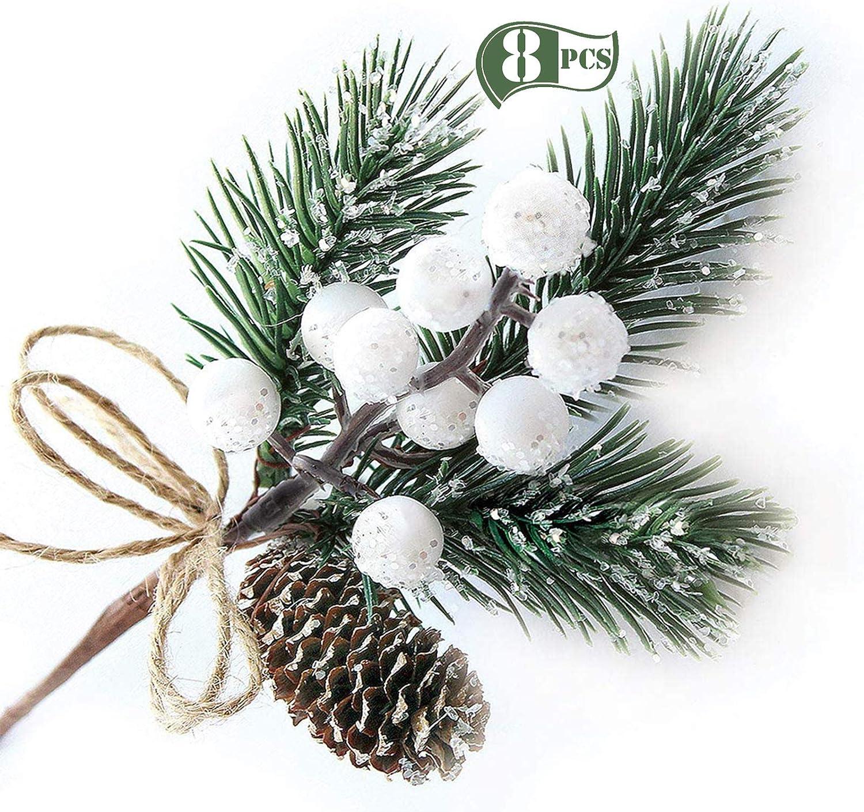 10pcs Artificial Pine Needles Xmas Tree Christmas Ornament Supplies Decoration