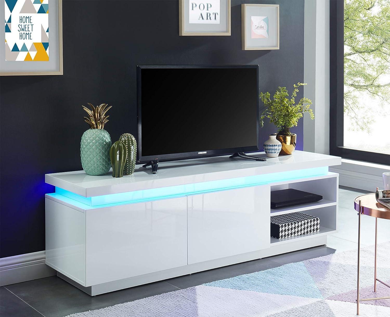 BAITA Cosmos Meuble TV /à LED laqu/é 150cm