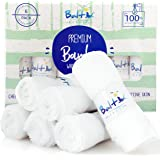 Baby Washcloths ? Hypoallergenic Organic Bamboo Towel Ultra Soft and Absorbent Natural Reusable Wipes Perfect for Sensitive Skin and Newborn Bath Ideal Baby Registry and Baby Shower Gift.