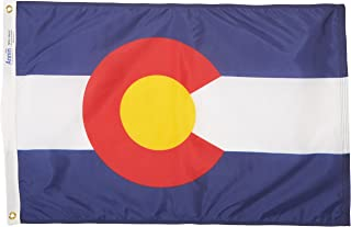 product image for Annin Flagmakers Model 140650 Colorado Flag Nylon SolarGuard NYL-Glo, 2x3 ft, 100% Made in USA to Official State Design Specifications