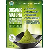 Matcha Green Tea Powder - Powerful Antioxidant Japanese Organic Culinary Grade Matcha - 1 oz (28 grams) - Increases Energy and Supports Weight Loss Goals and Healthy Metabolism - From Kiss Me Organics
