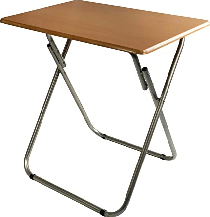 Weeu0027s Beyond 1305 Over Sized TV Tray Folding Table, Beech