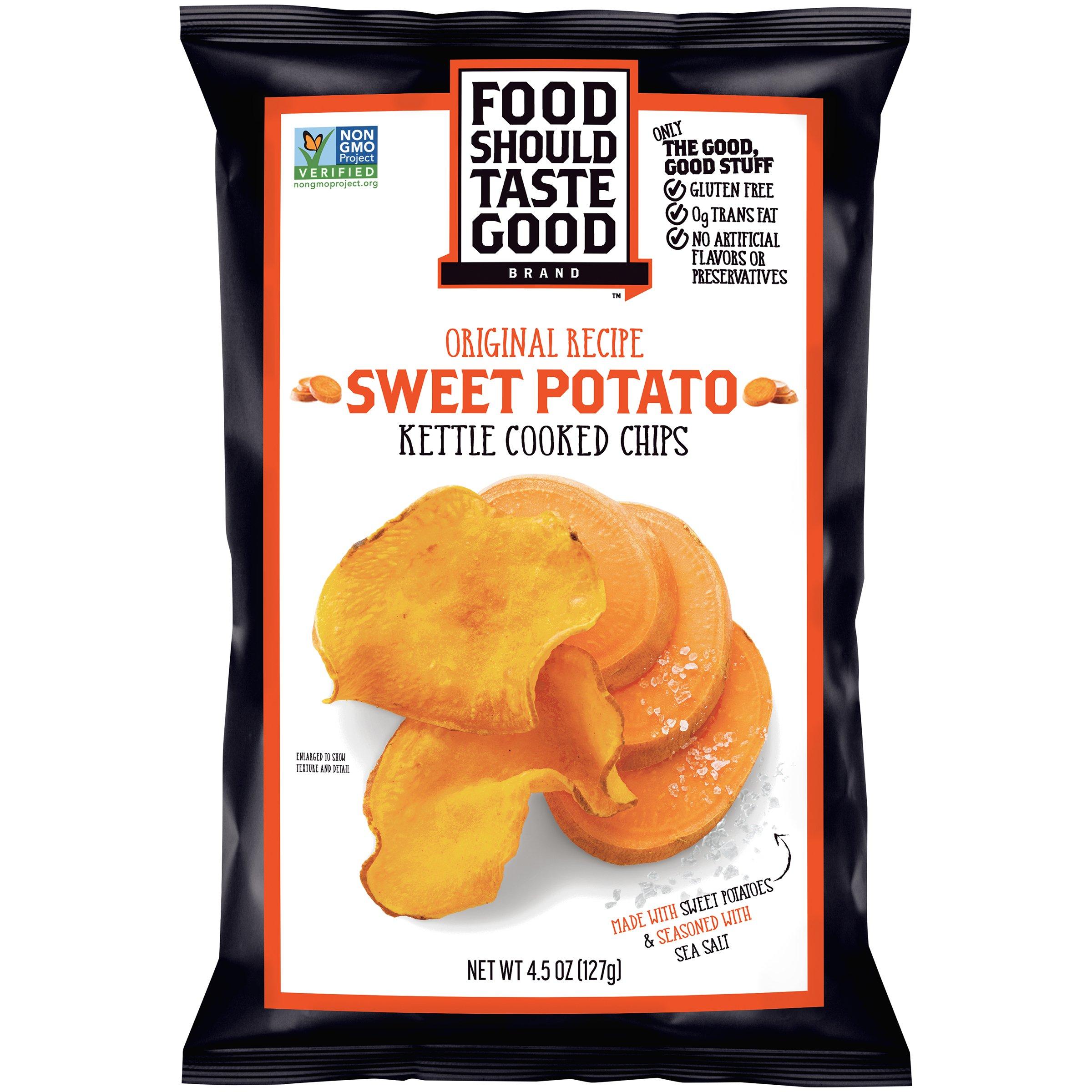 Food Should Taste Good, Sweet Potato Chips, Kettle Chips, 4.5 oz