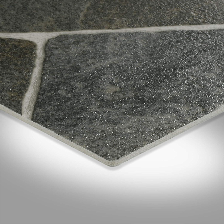 300 und 400 cm Breite Gr/ö/ße: Muster PVC Bodenbelag Steinoptik verschiedene Gr/ö/ßen Meterware 200 Chip anthrazit