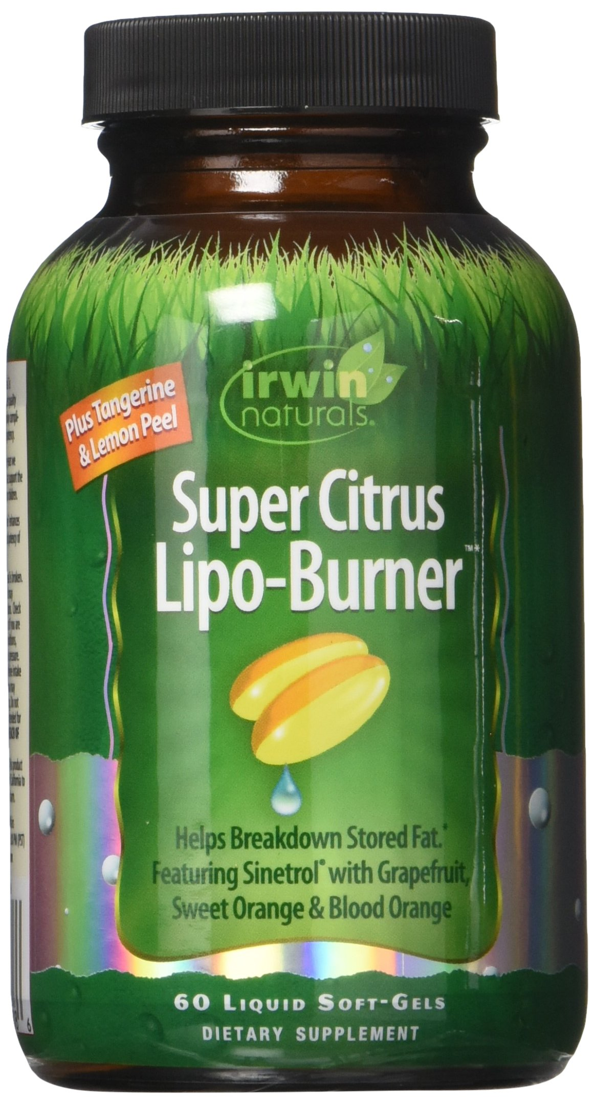 Super Citrus Lipo-Burner by Irwin Naturals, Featuring Sinetrol and Grapefruit, 60 Liquid Softgels