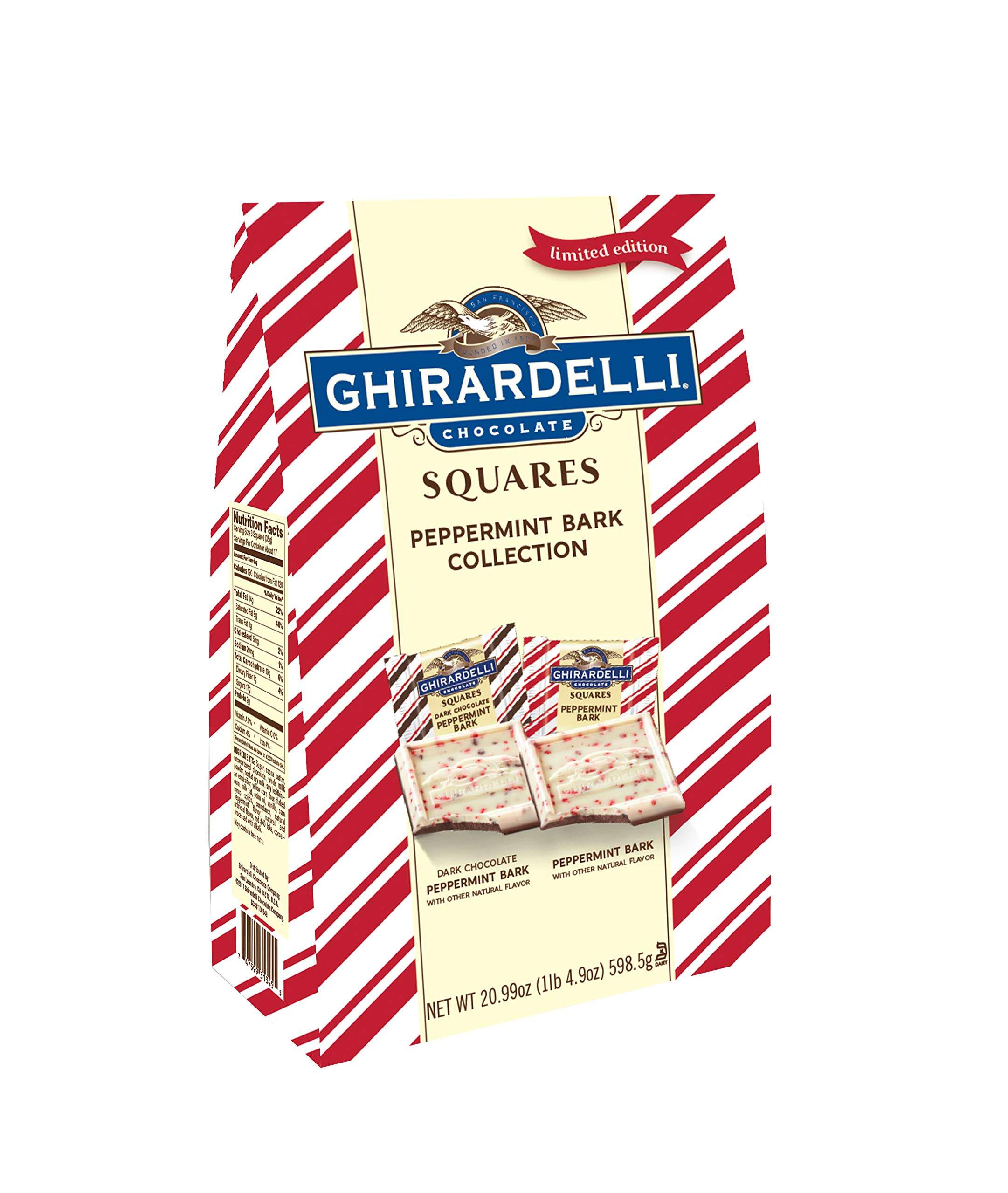 Ghirardelli Limited Edition Peppermint Bark XXL Bag, Milk Chocolate, 20.99 Ounce