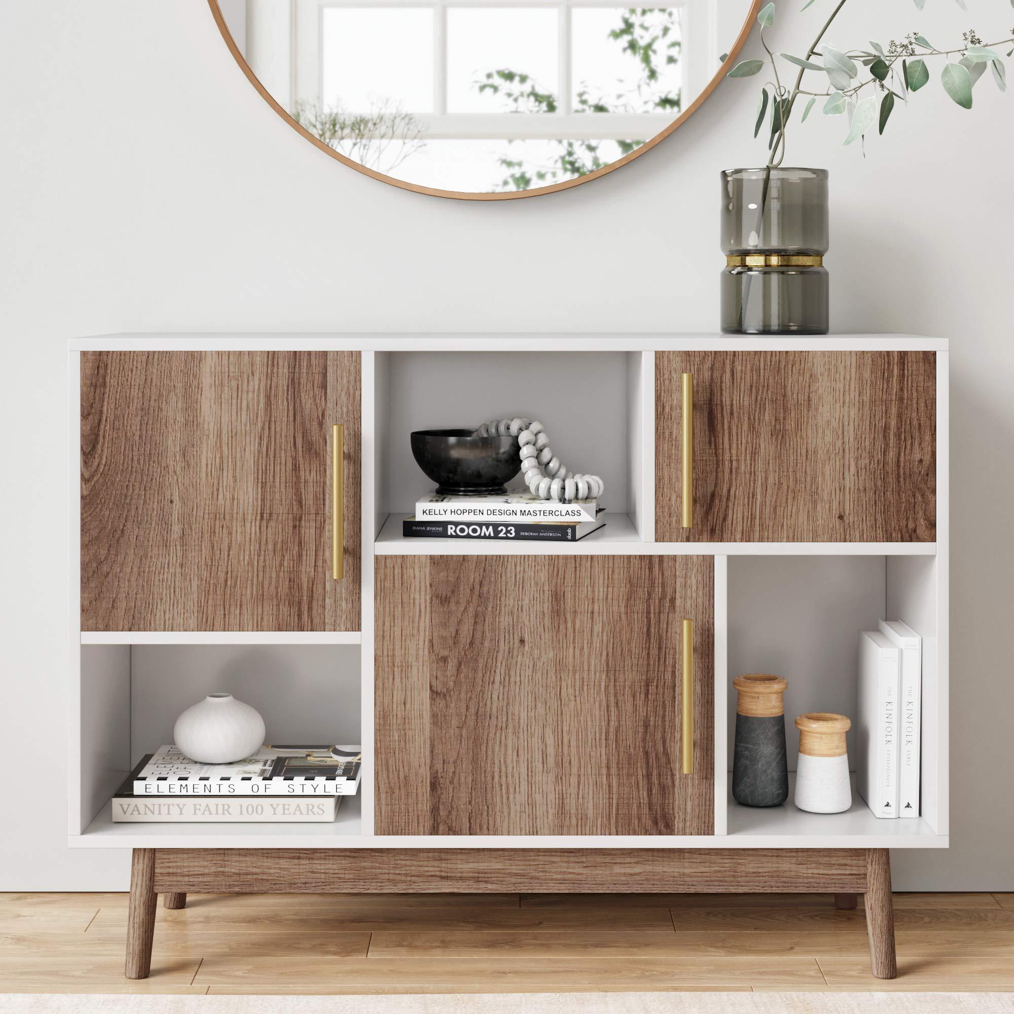 Nathan James 75501 Ellipse Modern Multipurpose Display Storage Unit Entryway Furniture, White by Nathan James