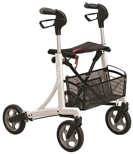 Andador ortopédico rollator Dolomite Jazz I 600 | Con asiento, cesta de tela frenos y