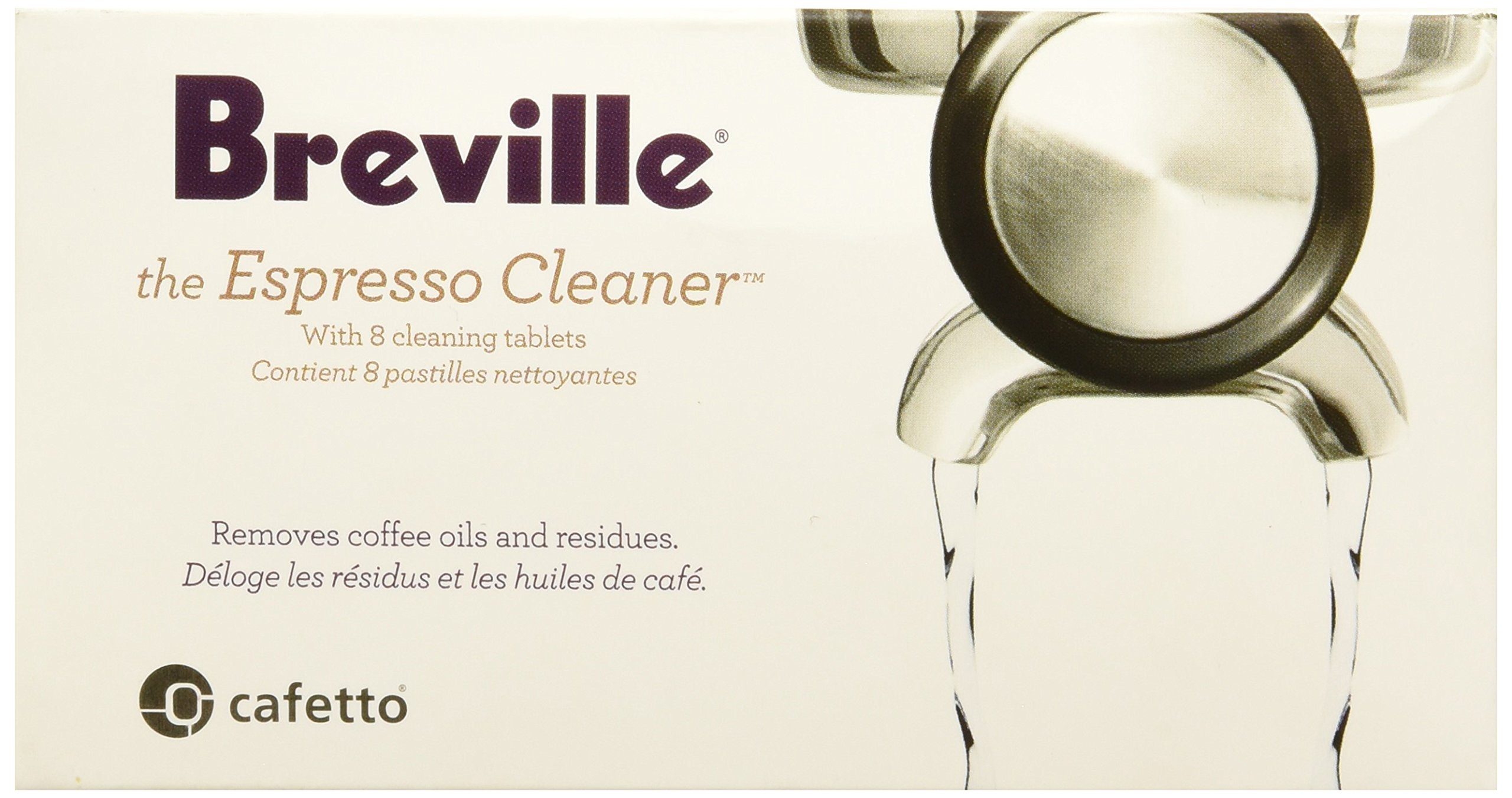 Breville BEC250 Breville BEC250 8-Pack Espresso Cleaning Tablets, White by Breville
