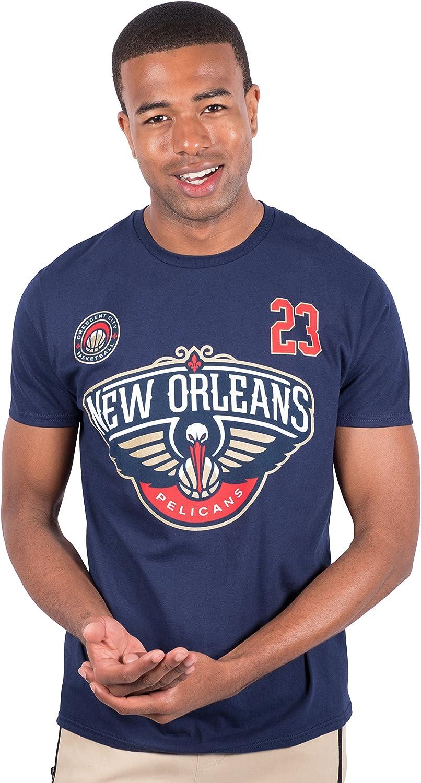 Ultra Game NBA Player's Name & Number Short Sleeve Tee Shirt