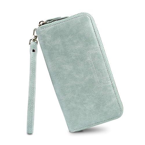 5c8365b80eaf Amazon.com: FT Funtor Wristlet Wallet for Women, Ladies Zip around ...