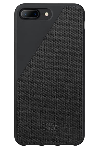 uk availability ee673 a14c5 Native Union CLIC Canvas Case - Drop-Proof Protective Cover Made with  Premium Woven Fabric for iPhone 7 Plus, iPhone 8 Plus (Black)