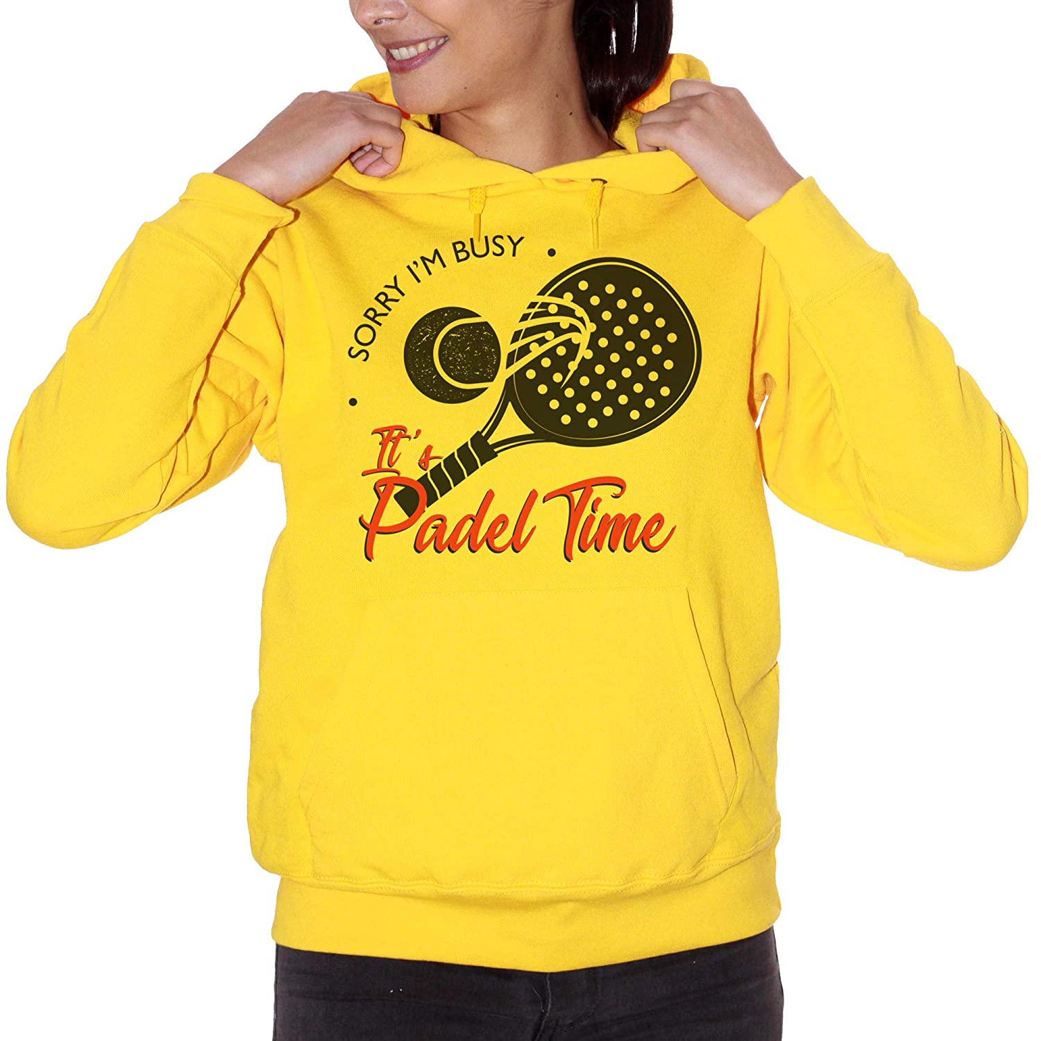 CUC Sorry Im Busy Its Padel Time Sport - Sudadera Gialla ...