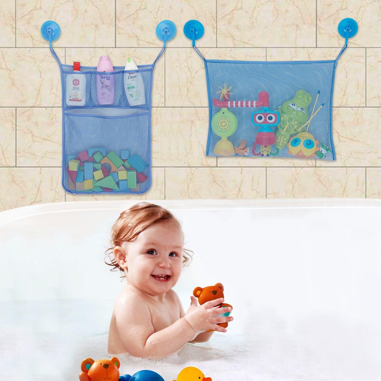 caloics C Bath Toy Storage Organizer Baby Bathtub Toy Holder, 2 Mesh ...