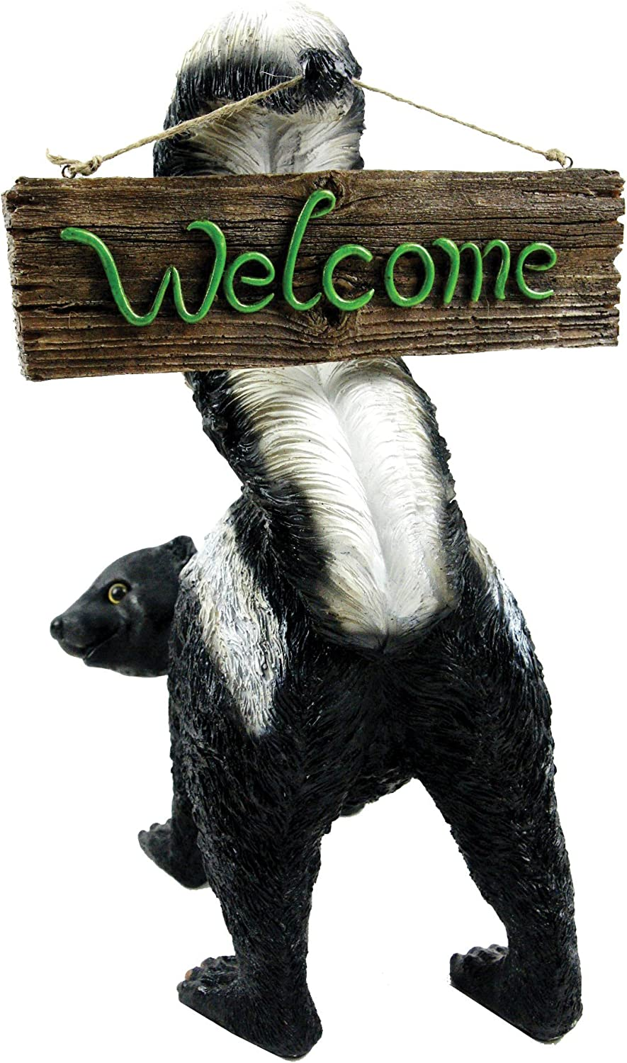 Amazon Com Welcome From Stinky By Michael Carr Designs Outdoor Skunk Figurine For Gardens Patios And Lawns 80056 Garden Outdoor