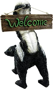 Welcome from Stinky by Michael Carr Designs - Outdoor Skunk Figurine for gardens, patios and lawns (80056)