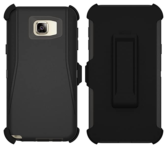 timeless design 8bcc6 5e4ba Galaxy Note 5 Case, ToughBox® [Armor Series] [Shock Proof] [Black] for  Samsung Galaxy Note 5 Case [Built in Screen Protector] [Holster & Belt  Clip] ...