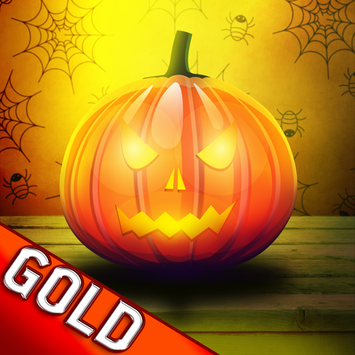 Wood Labyrinth Infinity Halloween : The Pumpkin and the deep black holes - Gold Edition -